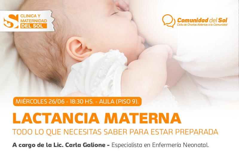 Charla: Lactancia Materna